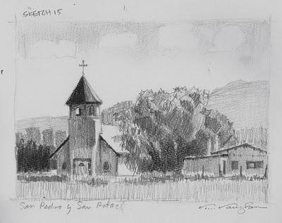 """San Pedro y San Rafael"" original fine art by V.... Vaughan"