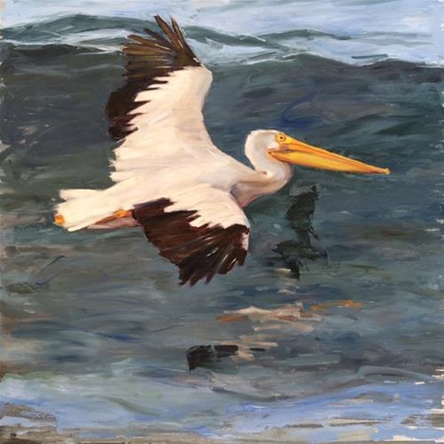 """""""Skimming"""" original fine art by Deborah Newman"""