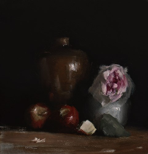 """Arrangement with Wilted Rose"" original fine art by Neil Carroll"