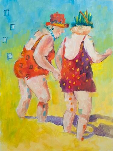 """""""Beach Party"""" original fine art by Sue Churchgrant"""