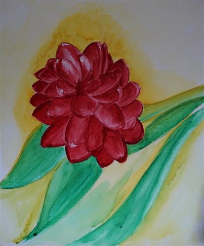 """Red Wax Ginger"" original fine art by Gin Sen"