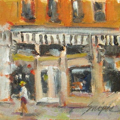 """Window Shopping, Mooresville, NC"" original fine art by Connie Snipes"