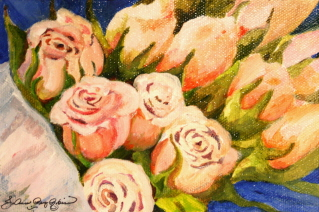 """Kyle's Roses"" original fine art by JoAnne Perez Robinson"