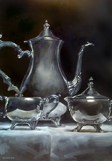"""Teapot Reflections"" original fine art by Michael Naples"