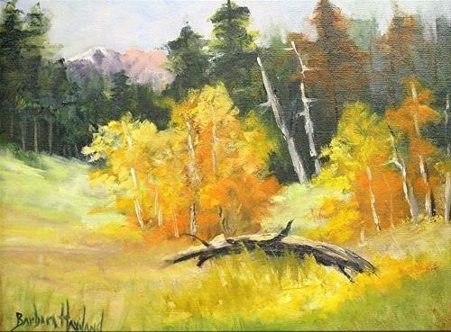"""Yellow Trees"" original fine art by Barbara Haviland"