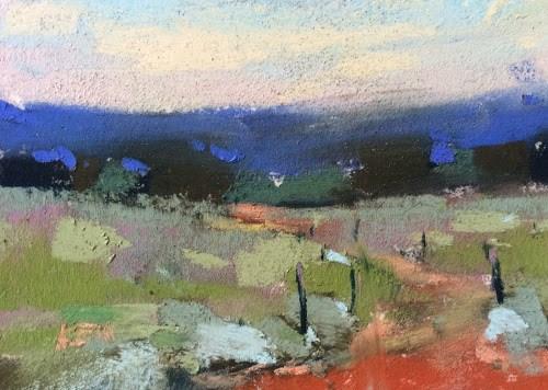 """Plein Air Painting When the Light is Flat"" original fine art by Karen Margulis"