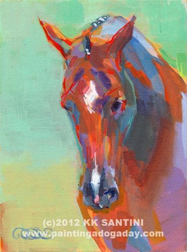 """Sal"" original fine art by Kimberly Santini"