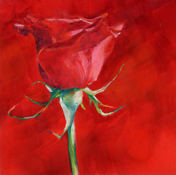 """Red Red Rose"" original fine art by Brenda Ferguson"