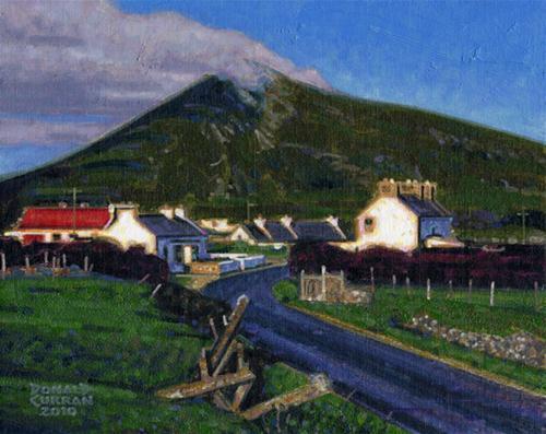 """Aran Island Mountain"" original fine art by Donald Curran"