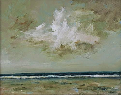 """Stormy Monday, Beach and Ocean Paintings by Arizona Artist Amy Whitehouse"" original fine art by Amy Whitehouse"