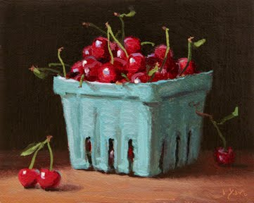 """Sweet Cherries"" original fine art by Abbey Ryan"