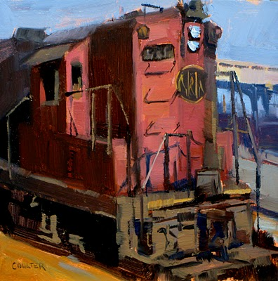 """LOCOMOTIVE 515"" original fine art by James Coulter"