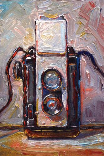 """Argus Argoflex Seventy-Five Camera"" original fine art by Raymond Logan"