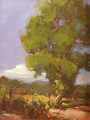 """Briggs Field"" original fine art by Laurel Daniel"