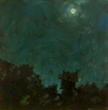 """Midnight Moon"" original fine art by Michael Naples"