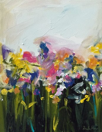 """flower field"" original fine art by Pamela Munger"