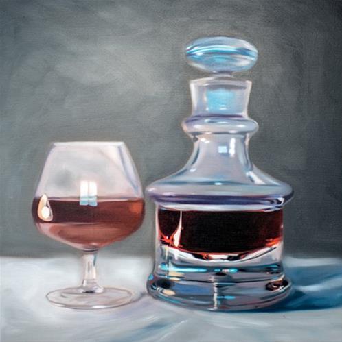 """Brandy Decanter and Snifter"" original fine art by Lauren Pretorius"