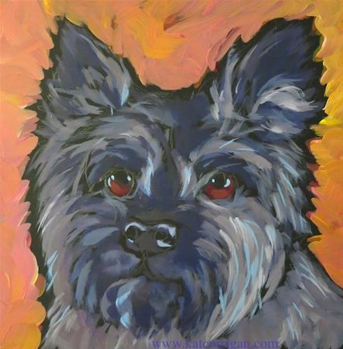 """Oban the Cairn Terrier"" original fine art by Kat Corrigan"