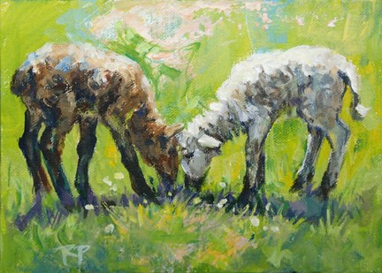"""Unmatched Pair"" original fine art by Robin Peterson"