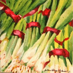 """Red and Green Onions"" original fine art by JoAnne Perez Robinson"