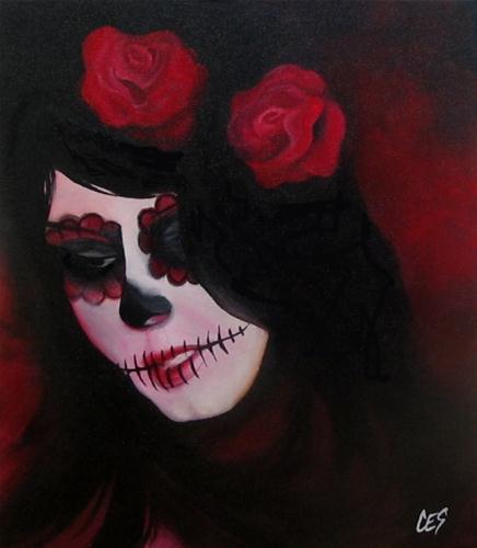 """""""Dia de los Muertos"""" original fine art by ~ces~ Christine E. S. Code"""