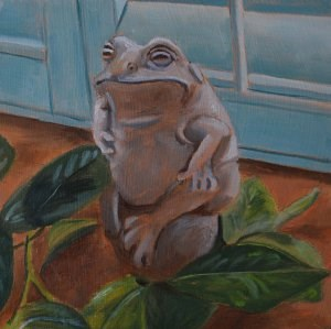 """Mr Frog"" original fine art by Robert Frankis"