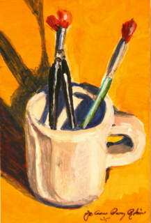 """My Trusty Tools"" original fine art by JoAnne Perez Robinson"