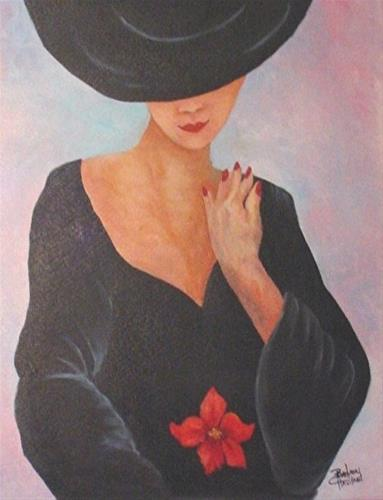 """Lady in Black #figure,#oilpainting,#fineArt,Canvas,#Barbara Haviland"" original fine art by Barbara Haviland"