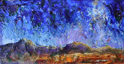 """Bethlehem Night II, Night Landscape"" original fine art by Amy Whitehouse"