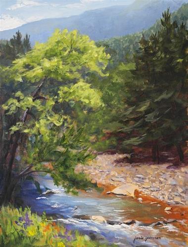 """Catskill Nirvana"" original fine art by Jamie Williams Grossman"