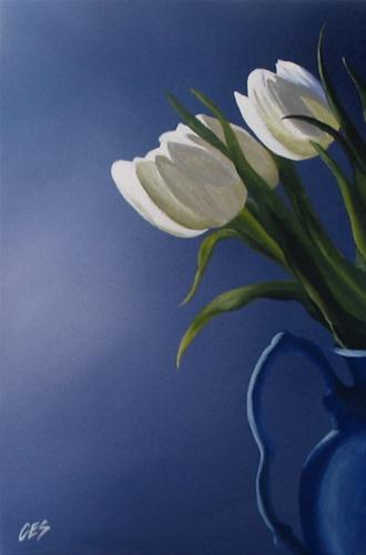 """White Tulips"" original fine art by ~ces~ Christine E. S. Code"