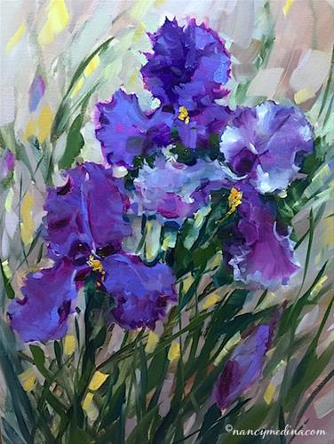 """Amethyst Ballet and Irises in December - Nancy Medina Art Videos and Classes"" original fine art by Nancy Medina"