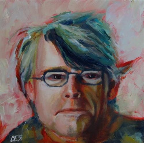 """Stephen King"" original fine art by ~ces~ Christine E. S. Code"