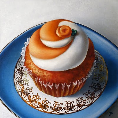 """Orange Swirl"" original fine art by Jelaine Faunce"
