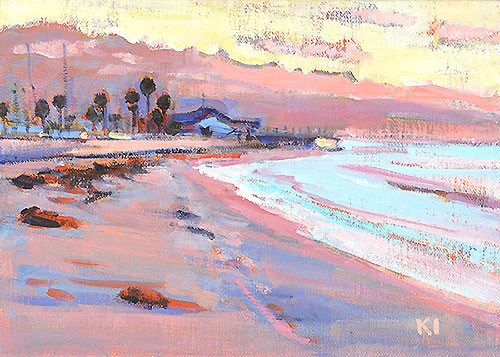 """Ledbetter Beach, Santa Barbara"" original fine art by Kevin Inman"