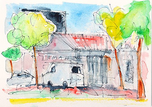"""""""Mission Hills Watercolor"""" original fine art by Kevin Inman"""