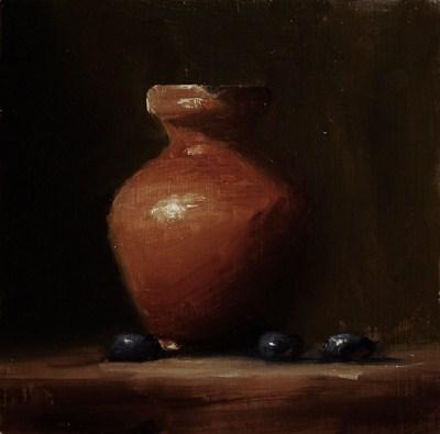 """""""Pitcher - study"""" original fine art by Neil Carroll"""