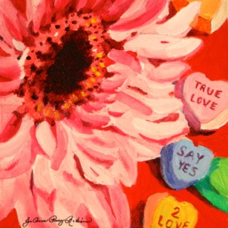 """True Love, Say Yes, 2 Love"" original fine art by JoAnne Perez Robinson"