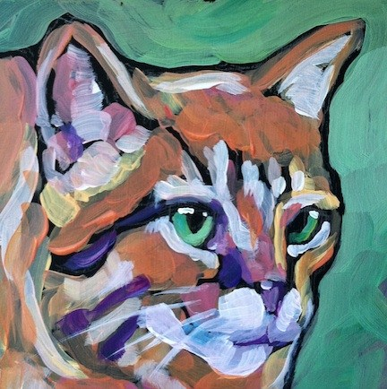"""March 22, Barn Cat"" original fine art by Kat Corrigan"
