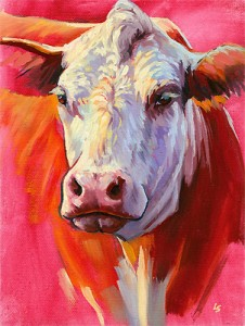 """Hereford"" original fine art by Lesley Spanos"