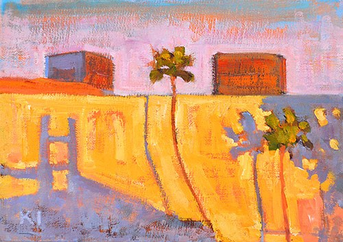 """""""Light at the Mall, Irvine"""" original fine art by Kevin Inman"""