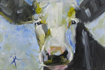 """Holy Cow"" original fine art by Gigi ."