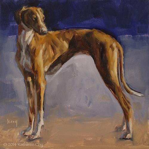 """Day 4 - Azawakh"" original fine art by Kathleen Coy"