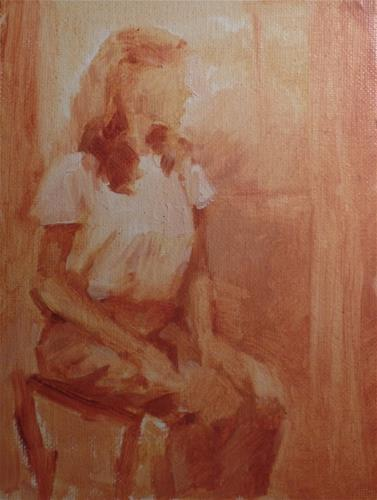 """Sepia Study of Figure"" original fine art by Suzanne Carson"