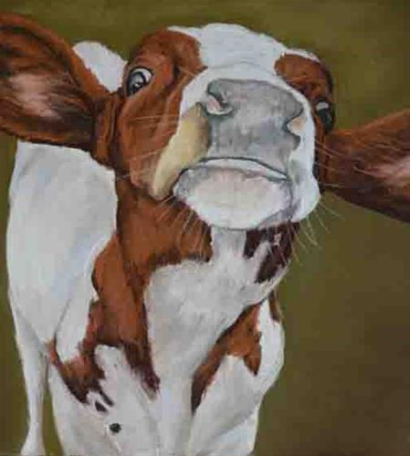 """""""Nosey"""" original fine art by Charlotte Yealey"""