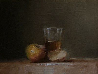 """Whiskey with Apples"" original fine art by Neil Carroll"