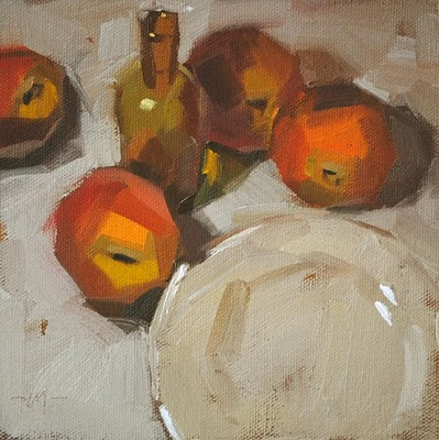 """Peach Extract"" original fine art by Carol Marine"