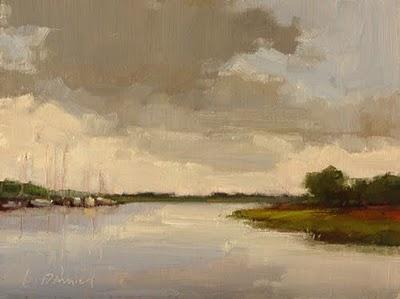 """Harbor Storm"" original fine art by Laurel Daniel"
