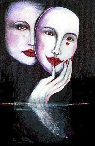 """Two faces of love"" original fine art by Barbara Lemley"