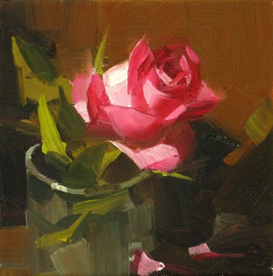 """Rose Solo 2 --- Sold"" original fine art by Qiang Huang"
